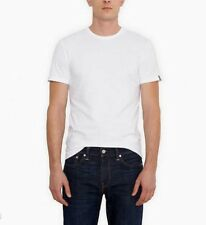 NEW MEN'S XL LEVI'S SLIM FIT CREW NECK TEES 2 PACK T-SHIRTS WHITE