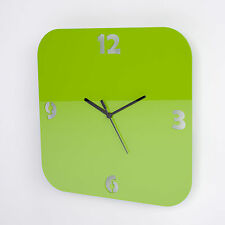 Large Acrylic Square Clock, Number Face Detail, Living Room, Bedroom, 17 Colours