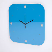 Large Acrylic Square Clock, Dots Face Detail, Living Room, Bedroom, 17 Colours
