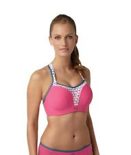 Panache 5021 Sports Bra Pink Geo Reduces Bounce by 83% 28-40 B-J Cups