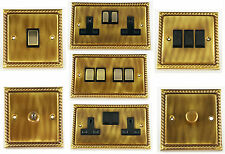 G&H Monarch Roped Antique Bronze Light Switches, Plug Sockets & Dimmer Switches
