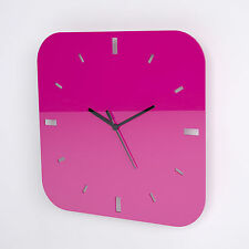 Large Acrylic Square Clock, Dashes, Living Room, Bedroom, 33 Colour Options