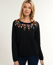 New Womens Superdry Folk Icarus Jumper Eclipse Navy