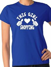This Girl Loves Her Shopping Ladies Gift T-shirt Size S-XXL