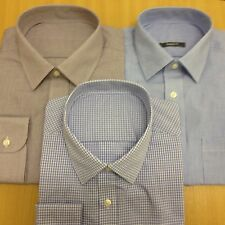 M&S New PolyCotton CHECKED MENS SHIRT Long Sleeve Casual Work Formal Gingham