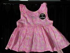 Baby Girls Cute Pink with Daisies detail Cotton Summer Dress/Top 18 - 24 months