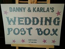 WEDDING POST BOX SIGN for gift table, post box, wishing well cards and gifts