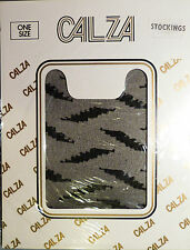 Calza One Size Zigzag Patterned Stockings 100% Nylon