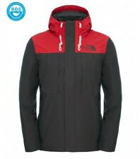 The North Face Herren Winterjacke Himalayan Black Ink Green/Tnf Red