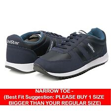 Unistar Jogging, Walking & Running (Narrow Toe) Shoes (033-Blue)