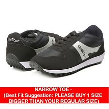 Unistar Jogging, Walking & Running (Narrow Toe) Shoes (602-Black)