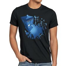 Who Notrufzelle Herren T-Shirt dalek who time police dr box space doctor tardis