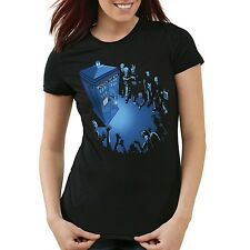 Who Notrufzelle Damen T-Shirt dalek who time police dr box space doctor tardis