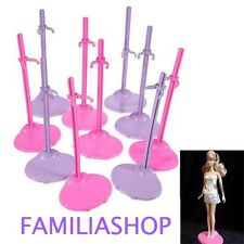 Lotto di 10 Support Stand Espositore per Poupee chic Barbie Steffie o Winx NUOVO