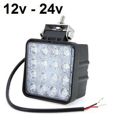Foco proyector led 48W 12v 24v 6000K 3200lm, barco, camión, tractor, coche, IP67
