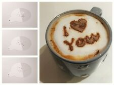 Love-Themed Barista Cappuccino Chocolate Stencil/Template, Coffee/Latte Duster