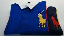 RALPH LAUREN BOYs KIDs LONG SLEEVE CLASSIC FIT MESH POLO GREEN BLUE S M L XL