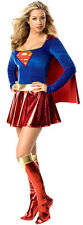 New Womens Supergirl Ladies Superhero Fancy Dress Party Costume