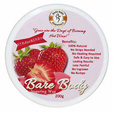 Bare Body Sugar Wax Strawberry (200g) - No Strips Needed | 100% Natural