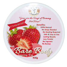 Bare Body Sugar Wax Strawberry (400g) - No Strips Needed | 100% Natural