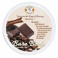 Bare Body Sugar Wax Cafe Mocha (200g) - No Strips Needed | 100% Natural