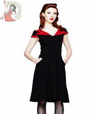 HELL BUNNY 50's EVIE POLKA DOT DRESS BLACK & RED