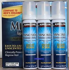KIRKLAND MINOXIDIL FOAM 5% STRENGTH HAIR REGROWTH MEN UK STOCK 1 to 12 Months
