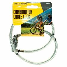 Bicycle Combination Lock 70cmx 8mm Cycle Cycling Bike Spiral Cable Chain UK