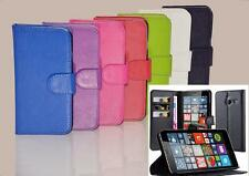 NEW PU Leather Wallet Flip Book Stand Case Cover For Microsoft Nokia Lumia Phone