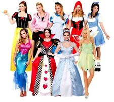 Adult CHARACTER STORY BOOK FAIRY TALE Fancy Dress Ladies Costume UK Size 6-28