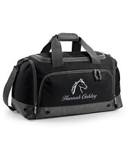 Personalised Horse Riding Grooming Holdall Bag with Embroidered Horse Logo