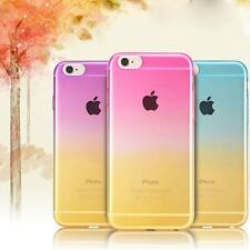 Ombre Colorful Silicone/Gel/TPU Soft Clear Case Cover For iPhone SE 5S 6S 7 Plus