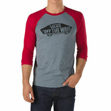 Vans OTW Old School Raglan Sleeve T-Shirt grey red black
