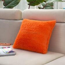 12 Colors Soft Long Plush Square Cushion Cover Home Bed Sofa Throw Pillow Case