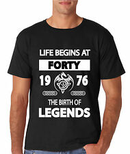 LIFE BEGINS AT 18 21 30 40 50 60 65 or 70 BIRTH OF LEGENDS mens T SHIRT tshirt