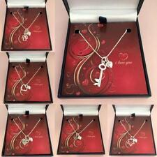 I Love You Collares, Regalo para Esposa, Novia, novia Plata De Ley