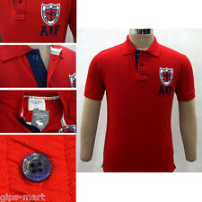 New A F Abercrombie & Fitch Collar Polo T Shirt Cotton Red Color Best Quality