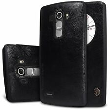 Nillkin Qin Royal Leather Bumper Flip Case Cover with QuickCirle View For LG G4