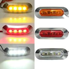 12V 24V Jaune Blanc Rouge LED Side Marker Light Feux Gabarit Camion Remorque Bus