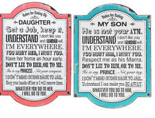 Rules for Dating my Daughter/Son Large Metal Sign/Plaque Funny Humorous Mum Gift