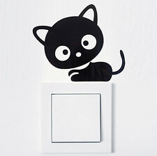 ADHESIVO INTERRUPTOR LUZ Gato Pegatina pared tomacorriente FUN ANIMAL 996