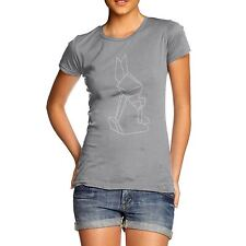 Twisted Envy Women's Geometric Easter Bunny Rhinestone Diamante T-Shirt