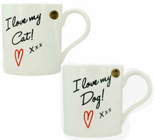 "LESSER AND PAVEY "" I LOVE MY CAT/DOG FINE CHINA MUG ITEM: LP91937/LP91938"