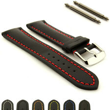 Men's Genuine Leather Watch Strap Band Heavy Padded Canyon 18mm 20mm 22mm 24mm