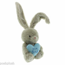 Bebunni Bunny Rabbit holding heart cushion Its A Boy / Girl Lovely New Baby Gift
