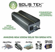 Solis Tek Solistek 1000w Digital Grow Kits Cooltube Aerowing Lumatek Miro