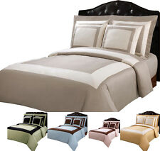 """Abripedic"" Patchwork Cotton Modern Hotel Bed in a Bag, Soft 10-PC Colored Set"