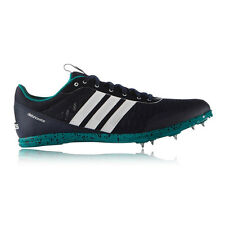 Adidas Distancestar Mens Green Blue Running Track Field Athletic Spikes Shoes