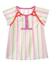 Gymboree Tea Garden stripe bow accent top shirt NWT