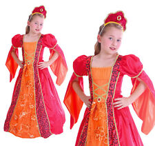 Childrens Deluxe Princess Fancy Dress Costume Juliet Outfit Book Week 3-10 Yrs